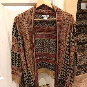 Fabric beautiful poncho